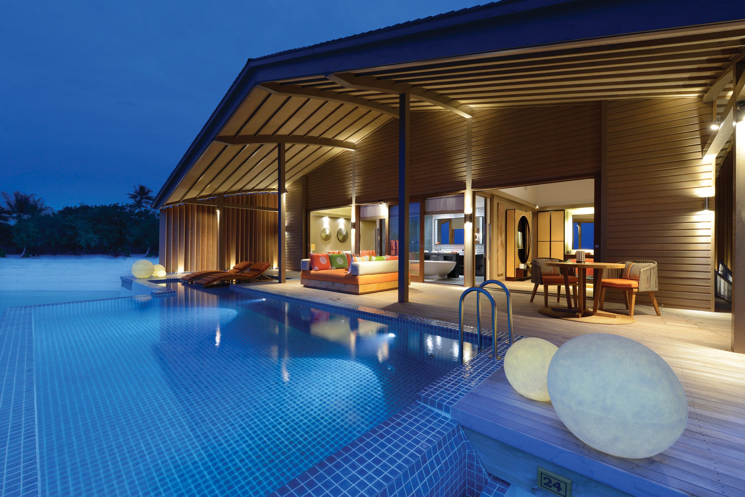 Club Med馬爾地夫芬尼芙別墅,每棟別墅均擁有寬敞空間及私人泳池。