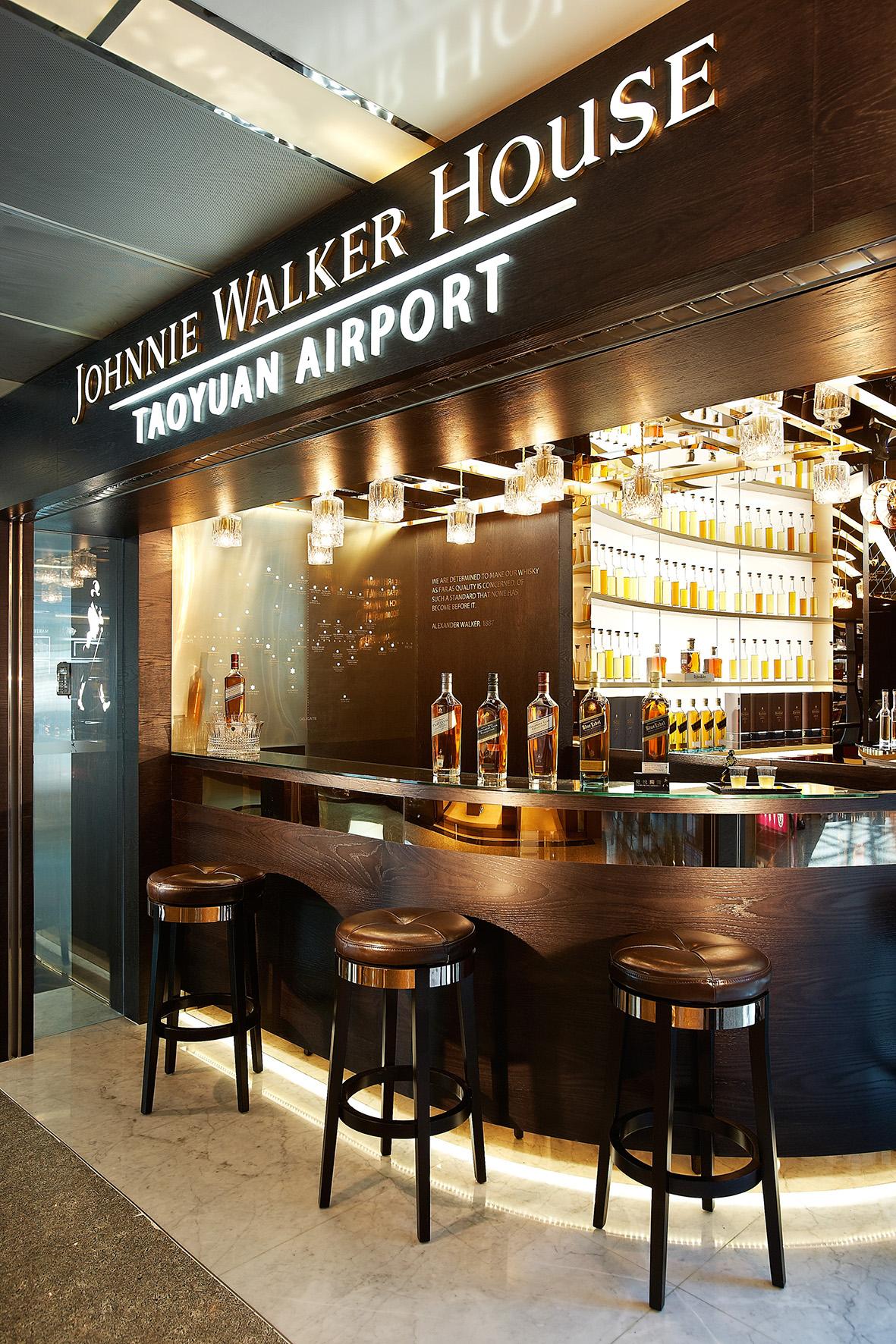 圖2:臺灣桃園國際機場 JOHNNIE WALKER HOUSE™入口處一景
