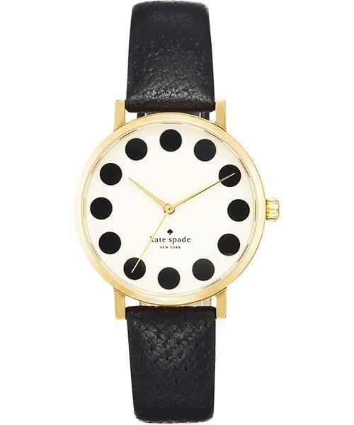 06 Kate Spade Merto 時尚點點腕錶-米白黑34mm