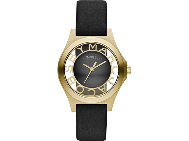 07 Marc by Marc Jacobs 浮雕鏤空系列腕錶-黑金34mm