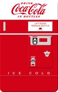 OK便利商店推出「可口可樂」復刻版販賣機收納盒紀念包裝,內含4罐330ml鋁罐「可口可樂」超值特價NT 188元