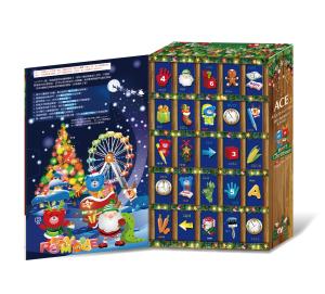 ACE根特小鎮聖誕月曆禮盒-假立體(打開)