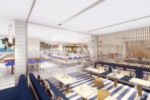 Club Med三亞度假村,位於熱帶天堂海南島,度假村洋溢海洋風情與融合自然與現代的設計風格!圖為度假村主吧台3D示意圖供參考使用。
