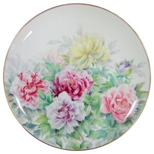 Noritake 牡丹映春展示盤36CM(若宮孝章手繪作品) 售價$268,000