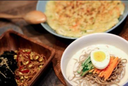 創意飲食:韓風海鮮煎餅+冷麵套餐