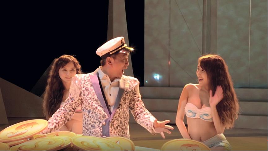 《LINE捕魚達人3D》廣告片段中,邀請知名網模「林虹伶」、「鍾小八」共同入鏡扮演清涼美人魚。〔圖/芬格遊戲提供〕