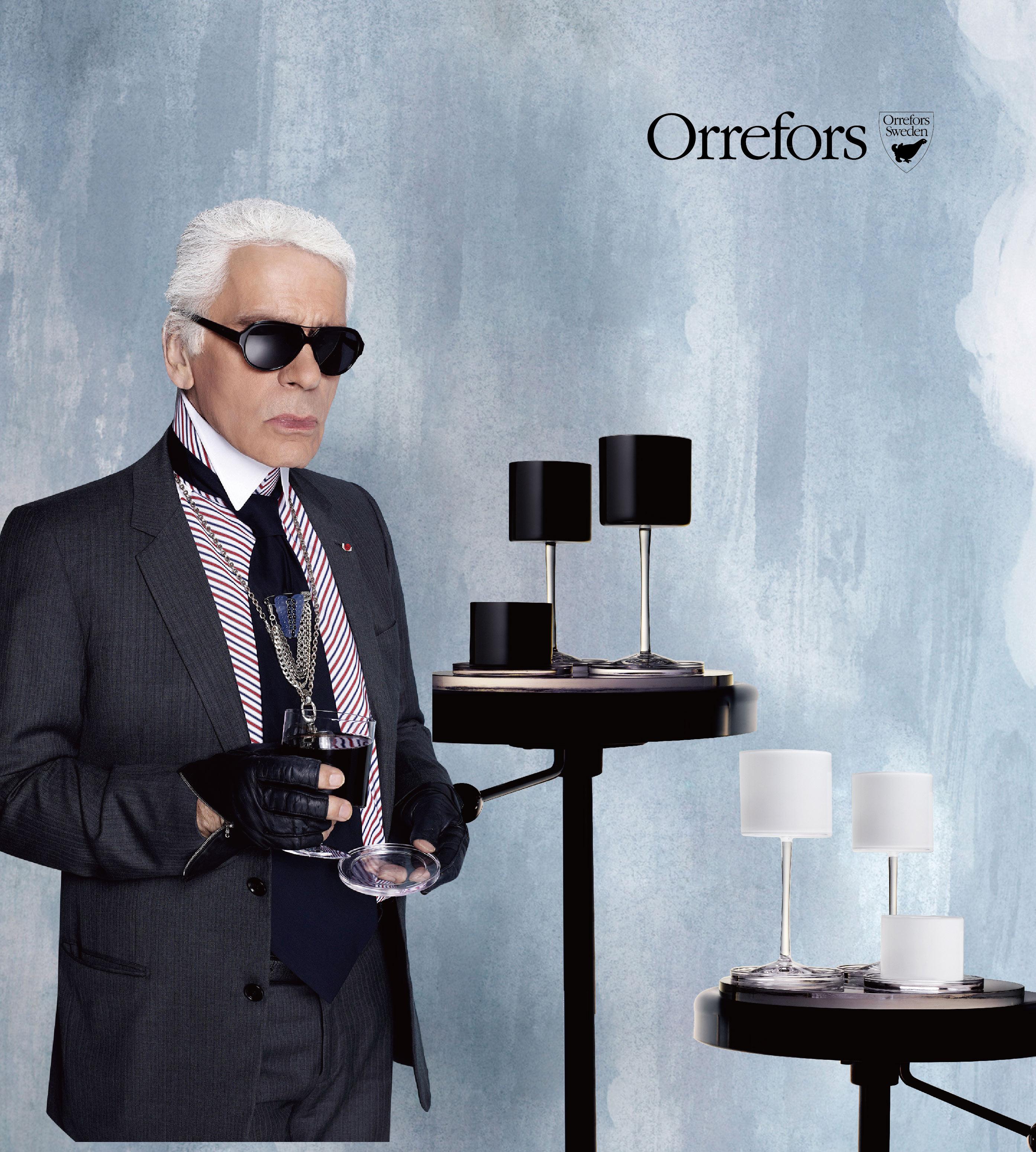 Orrefors時尚大帝Karl Lagerfeld聯名系列