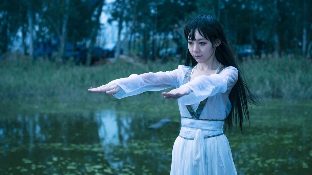 林明禎戲中長髮女殭屍造型 1