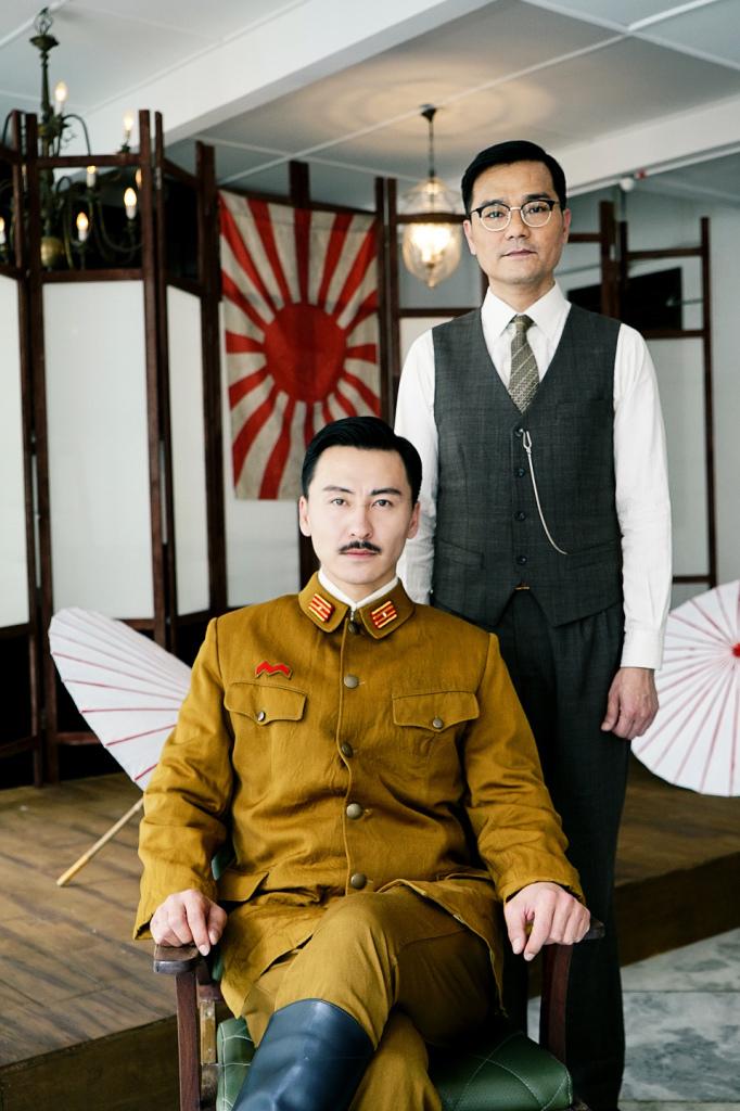 林家棟(右)與日前宣告息影的日本男星船木一輝(左)