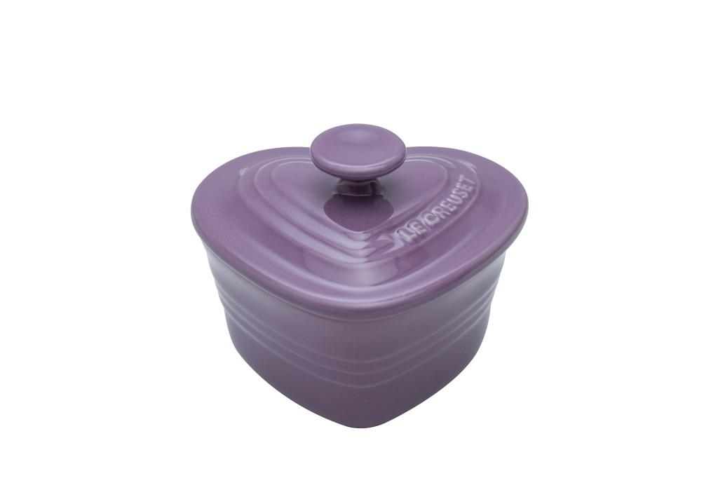 瓷器小愛心烤盅 (蘭花紫)