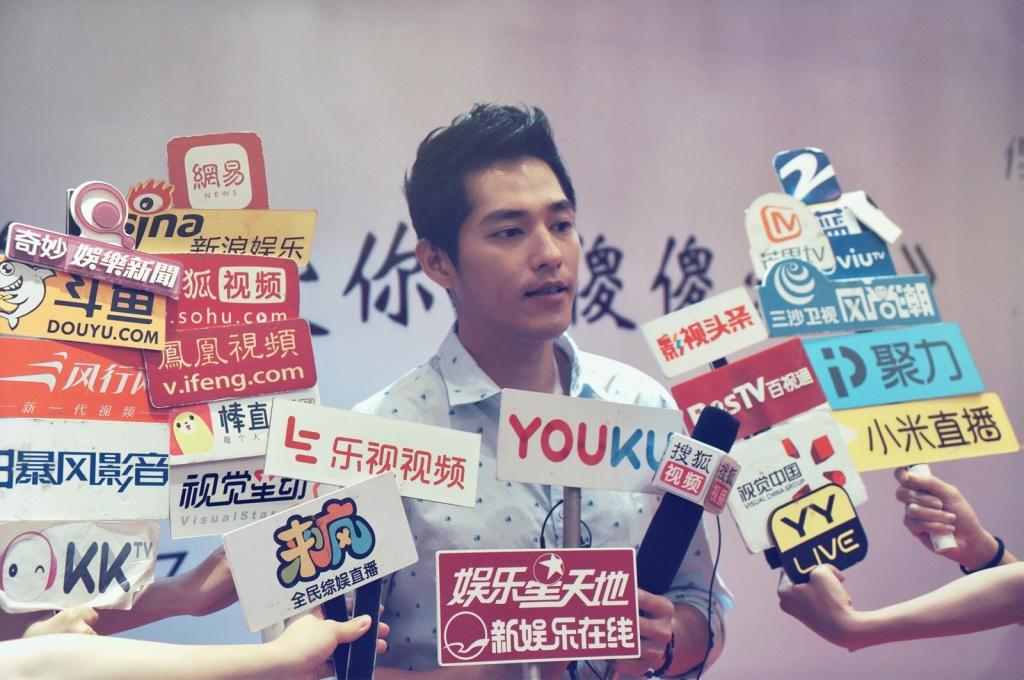 導演藍正龍特別前往上海電影節舉辦記者會