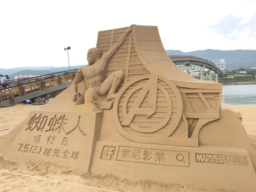 經過三日大雨侵襲,沙雕作品仍然完整