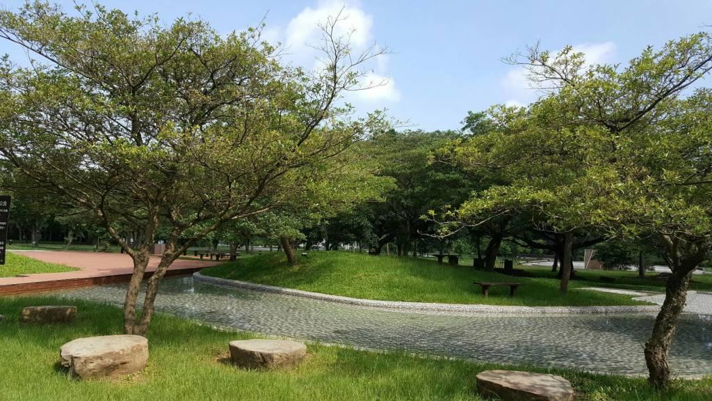 圖一親水噴泉區