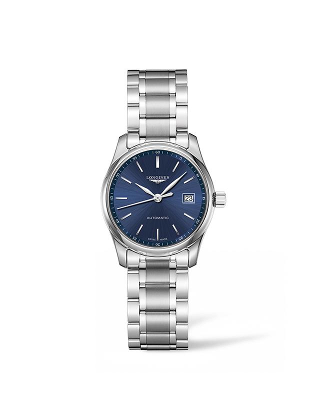Longines 浪琴表巨擘系列午夜藍不銹鋼腕錶 (L2.257.4.92.6),錶徑29毫米,建議售價 NT$59,800