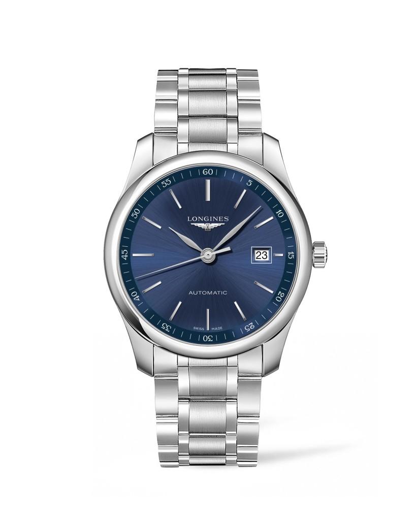 Longines 浪琴表巨擘系列午夜藍不銹鋼腕錶 (L2.793.4.92.6),錶徑40毫米,建議售價 NT$65,000