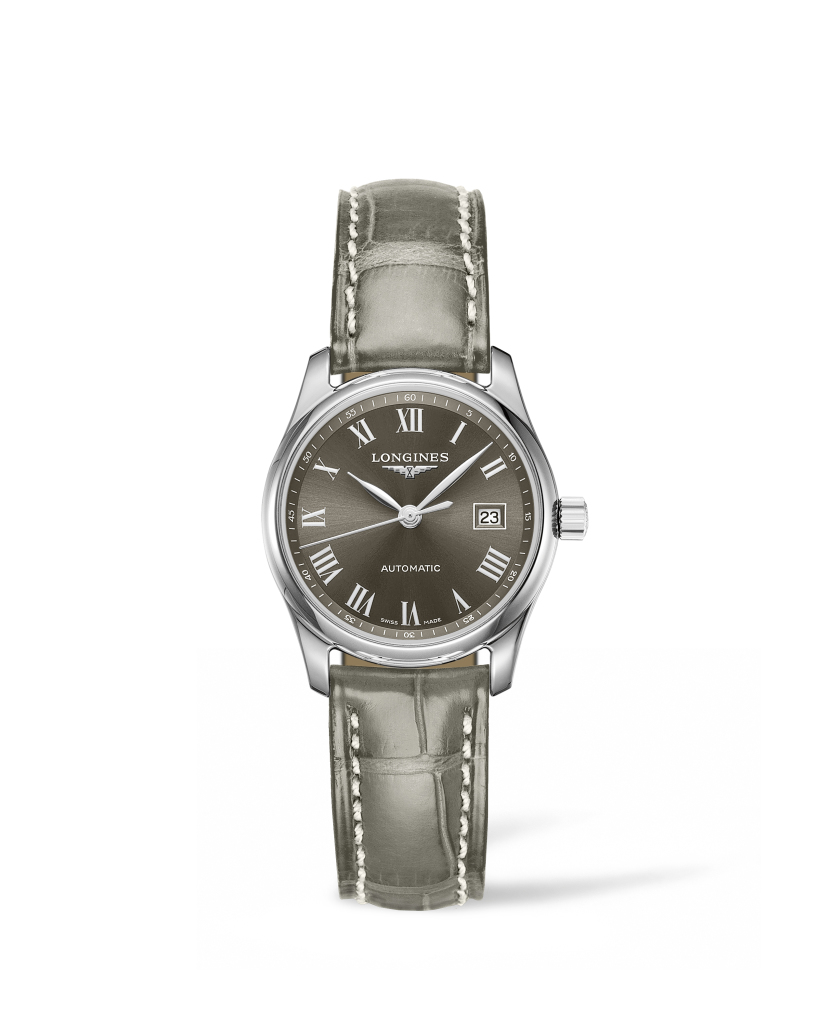 Longines 浪琴表巨擘系列曜石灰鱷魚皮腕錶 (L2.257.4.71.3),錶徑29毫米,建議售價 NT$59,800
