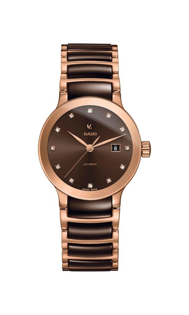 Rado Centrix晶萃系列鑽錶_棕_型號R30183752_建議售價NTD73,200