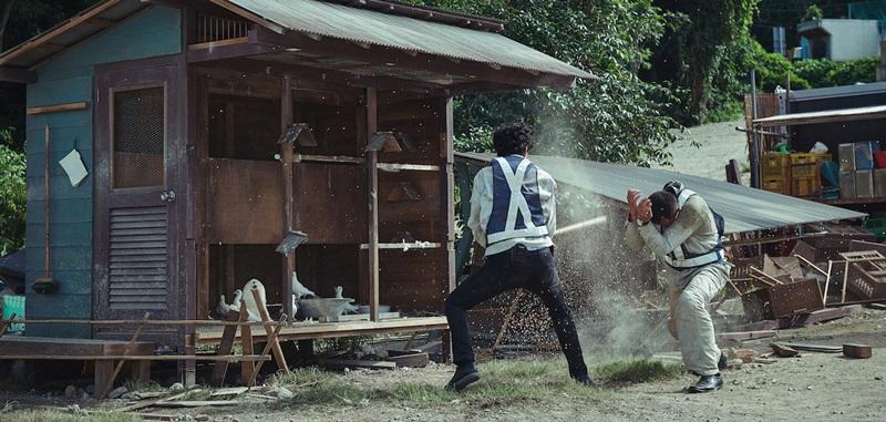 張涵予和福山雅治在鴿舍前打鬥