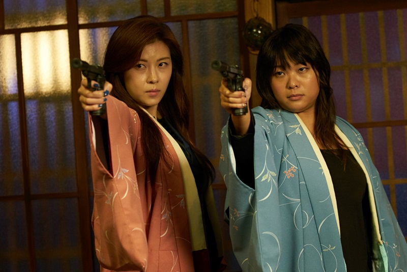 河智苑飾演殺手紫雨 和吳飛霞演出的紅霞是殺手搭檔