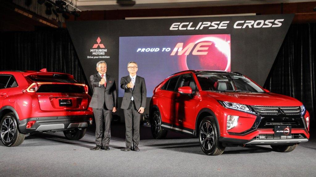 台灣與歐洲及北美並列首發團 日本三菱汽車副社長白地浩三(圖左)來台為ECLIPSE CROSS造勢