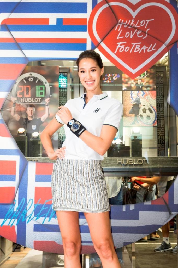 Akemi 配戴 HUBLOT 宇舶錶BIG BANG 2018世足賽官方腕錶