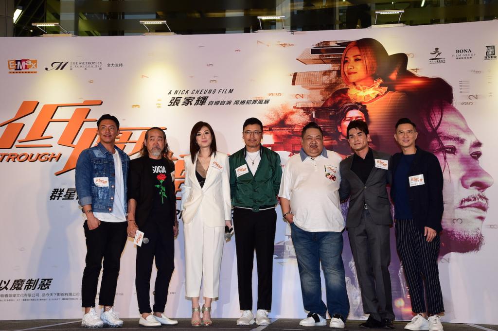 張繼聰、元華、張可頤、苗僑偉、林雪、伍允籠、導演張家輝 出席《低壓槽》香港首映會