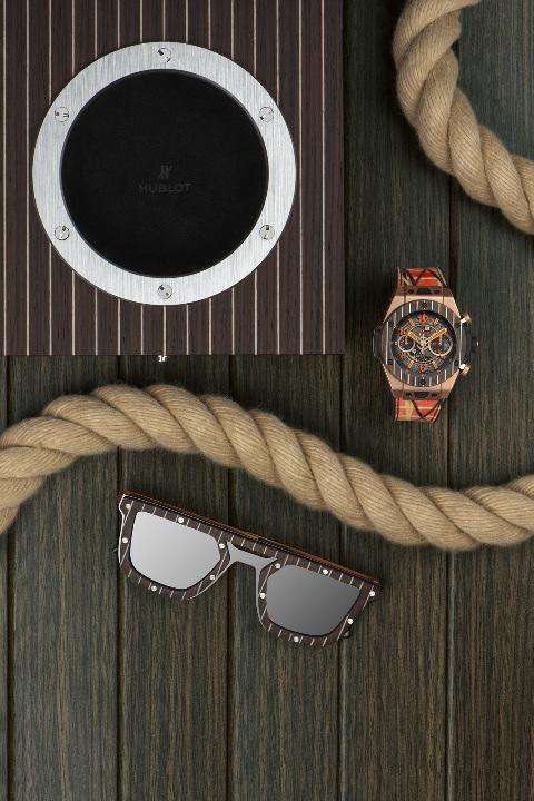 BIG BANG UNICO ITALIA INDEPENDENT 柚木腕錶搭配柚木太陽眼鏡與錶盒 (2)