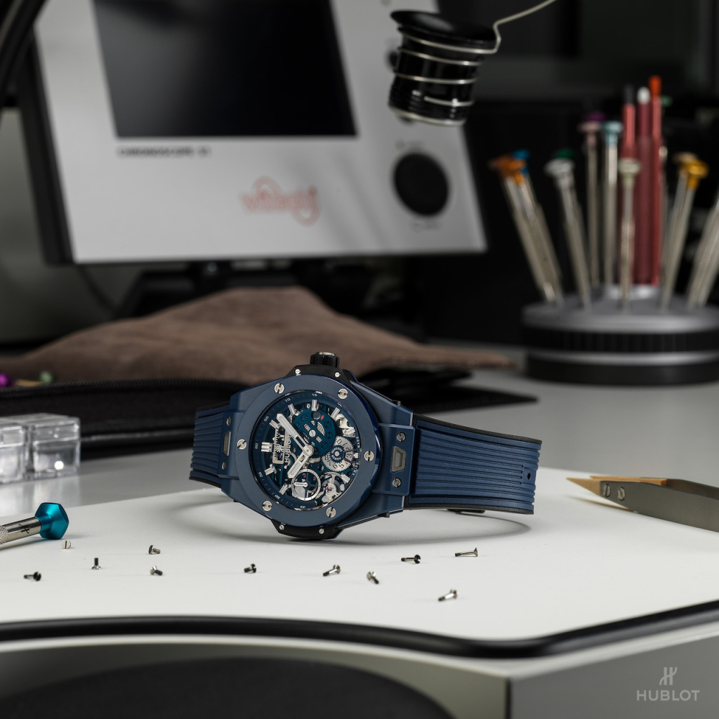 BIG BANG MECA-10 藍陶瓷腕錶 NTD684,000