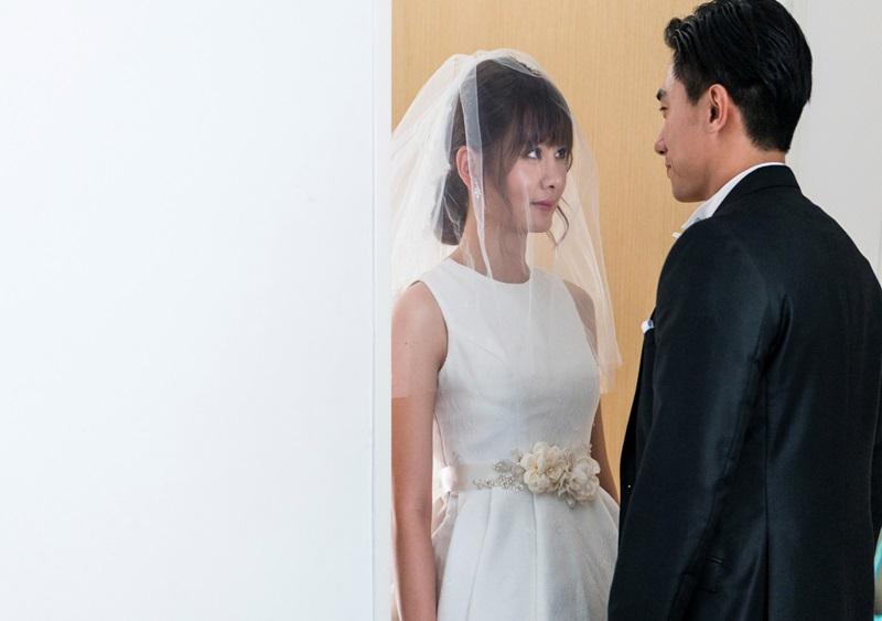 全能女神安心亞大銀幕首度披婚紗 與新加坡新科視帝陳泂江演出即將步入婚姻的小倆口