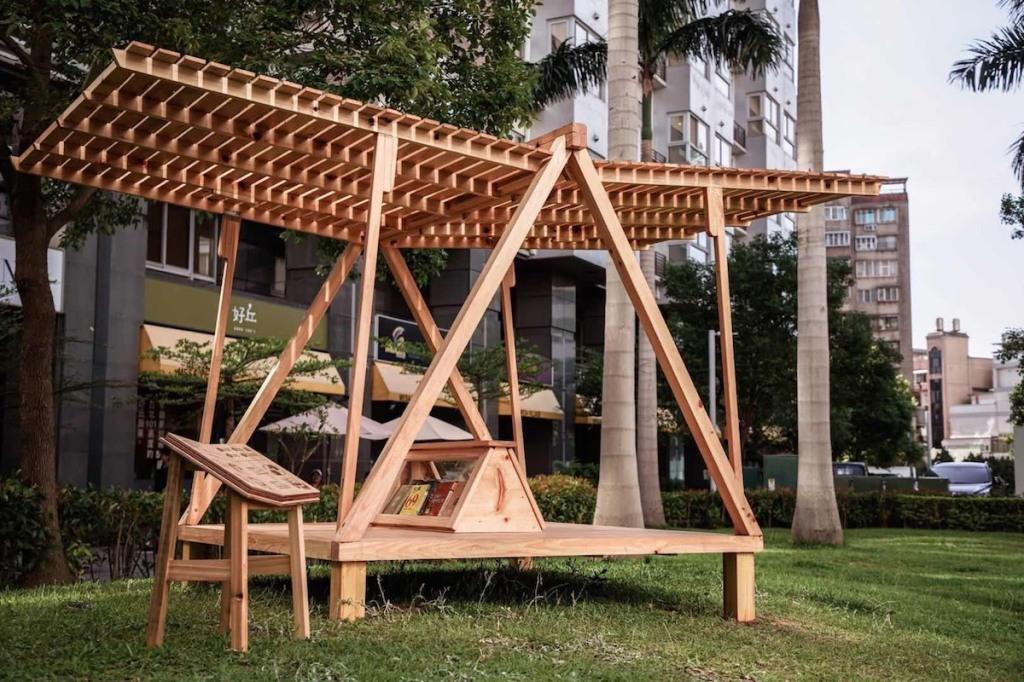 台北市士林區德行公園書席「飛翔的書屋」