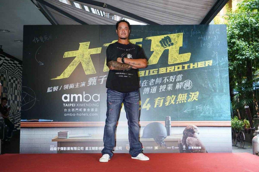 台灣人氣球星「大師兄」林智勝現身西門街頭 力挺電影《大師兄》1