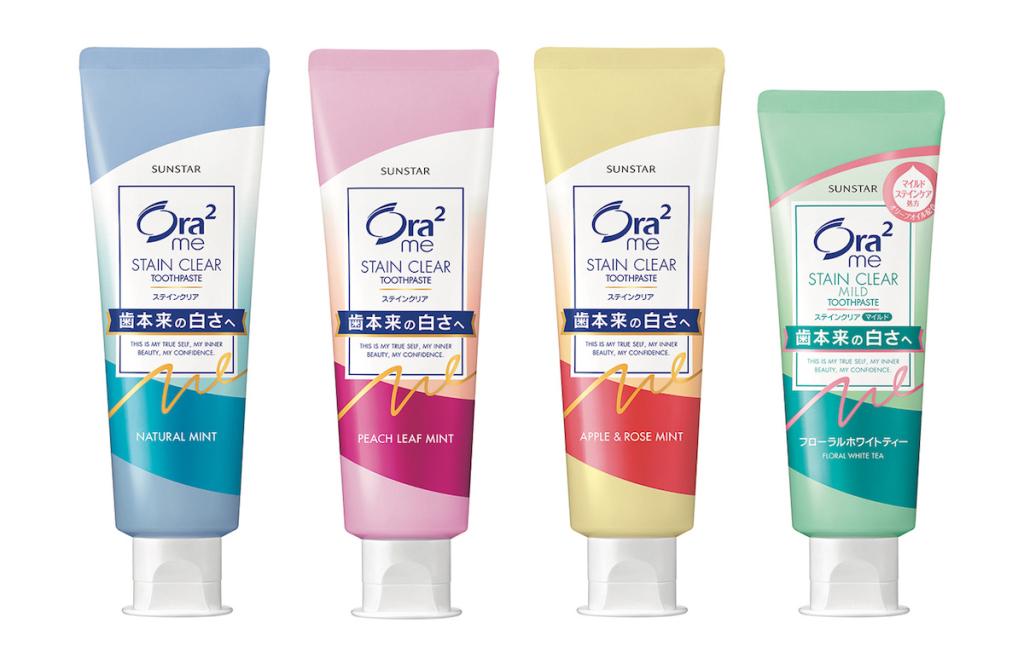 Ora2me淨白無瑕牙膏全系列產品圖