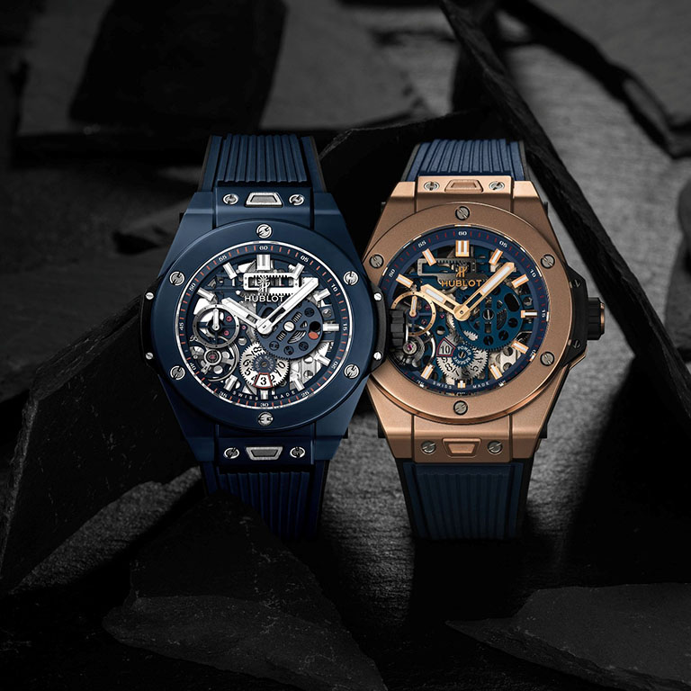BIG BANG MECA-10 藍陶瓷腕錶與BIG BANG MECA-10皇金腕錶 1