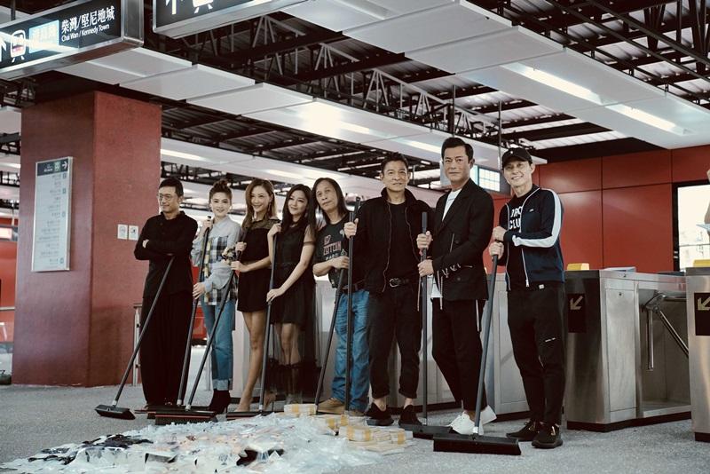 《掃毒2》劇組在新打造的地鐵站場景 把地上毒品垃圾清除 象徵掃毒行動正式開啟1