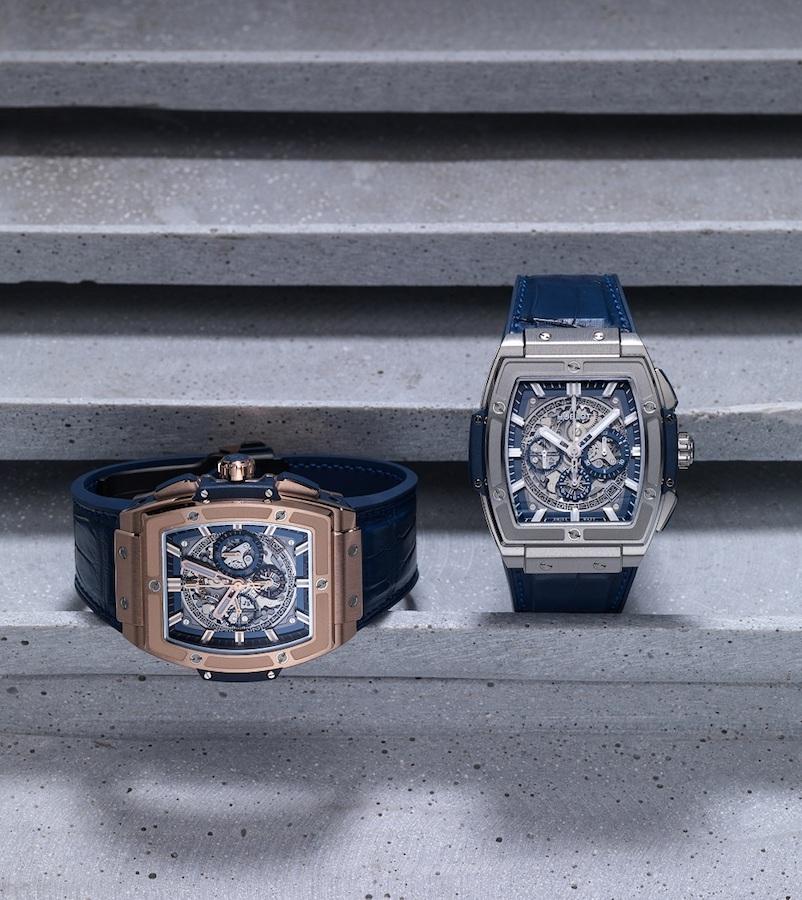 Spirit of Big Bang Blue 腕錶皇金款與鈦金屬款