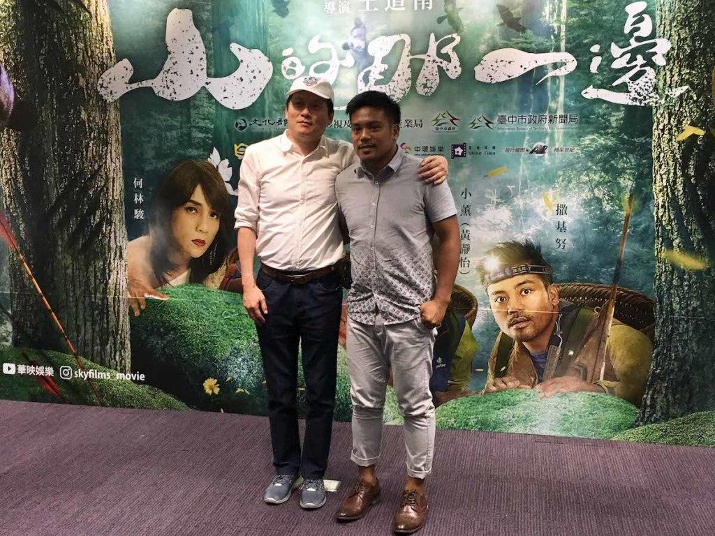 《山的那一邊》導演王道南與演員撒基努出席台中記者會1