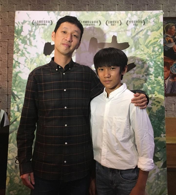 導演安邦與小童星吳至璿接受媒體聯訪2