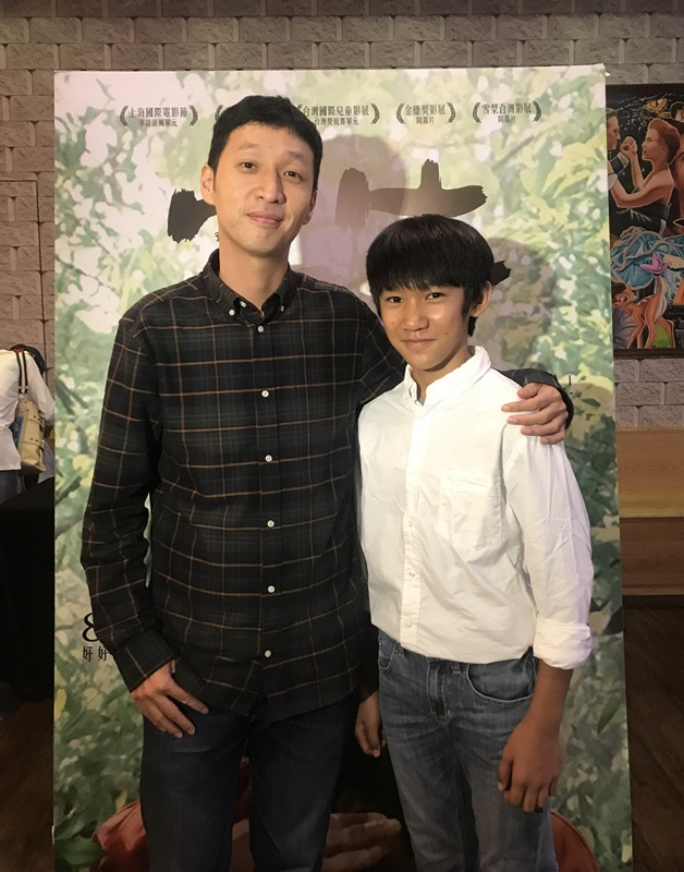 導演安邦與小童星吳至璿接受媒體聯訪3