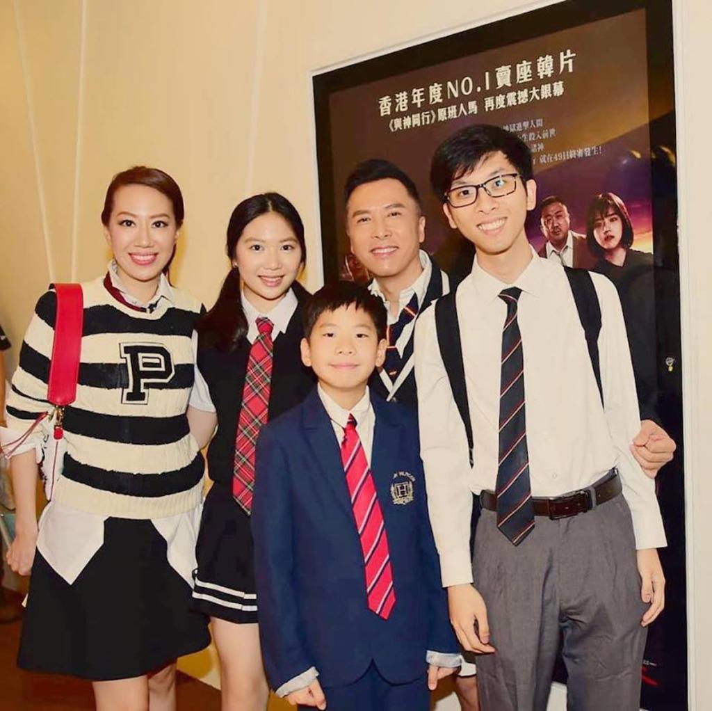 甄子丹帶著全家人一起進戲院力挺《大師兄》