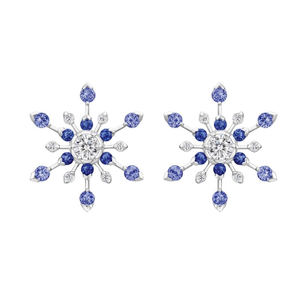 Peonia Diamond Starlight系列藍寶石款鑽石耳環NT$380,000元起