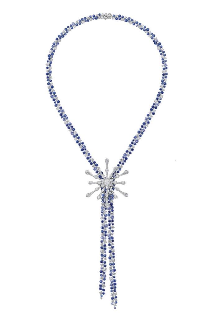 Peonia Diamond Starlight系列藍寶石款鑽石項鍊NT$2,827,000元起