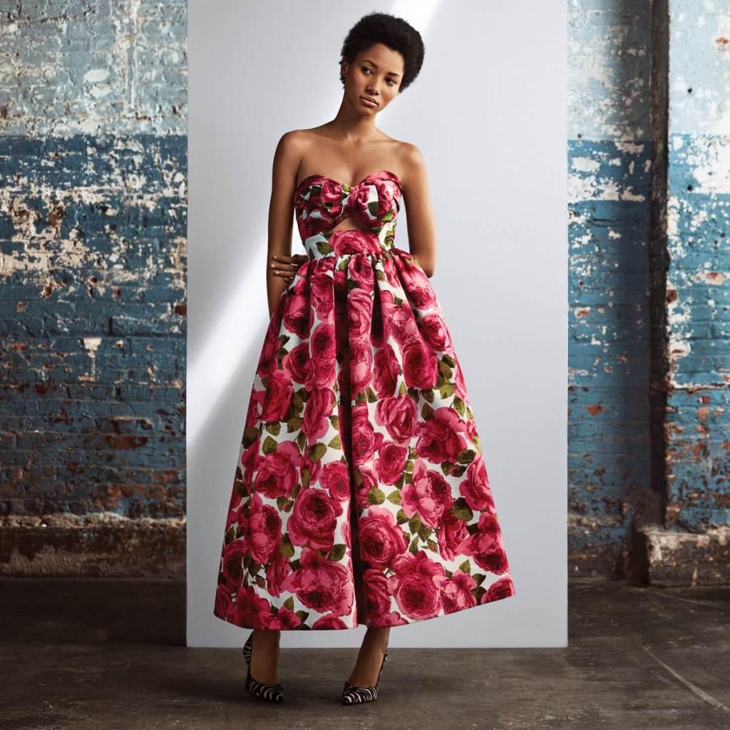 Michael Kors Collection 玫瑰印花禮服