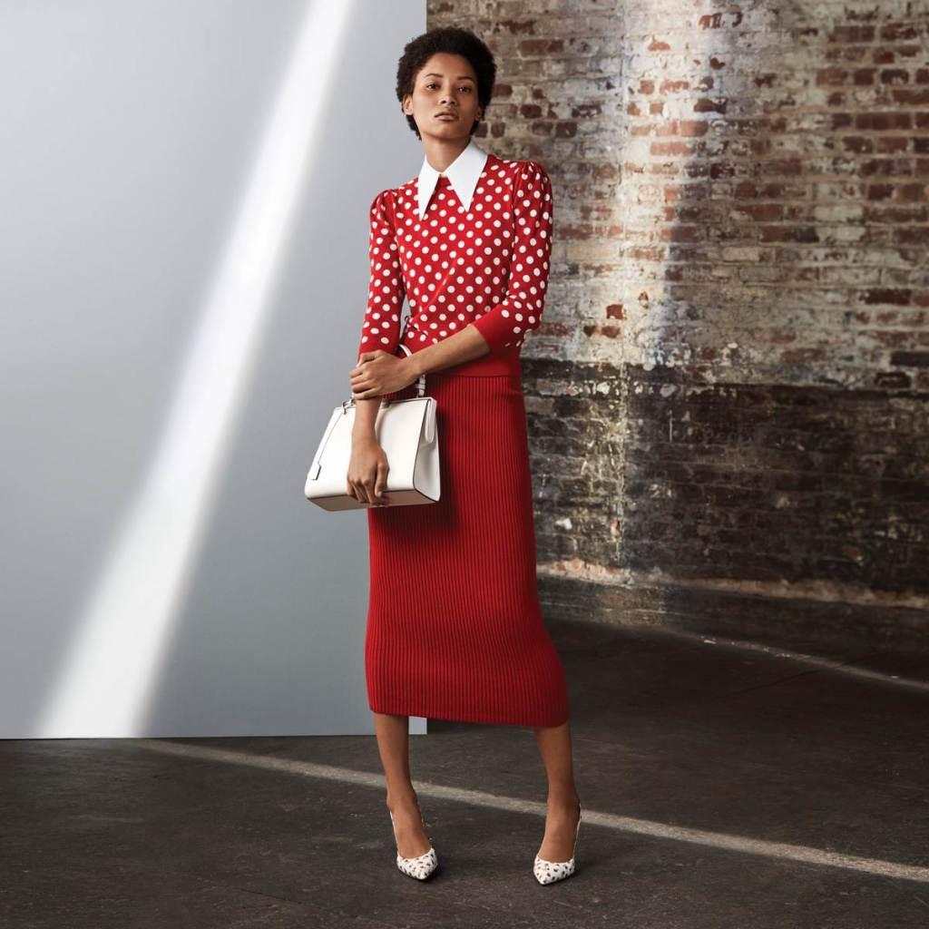 Michael Kors Collection 紅色點點針織裙裝