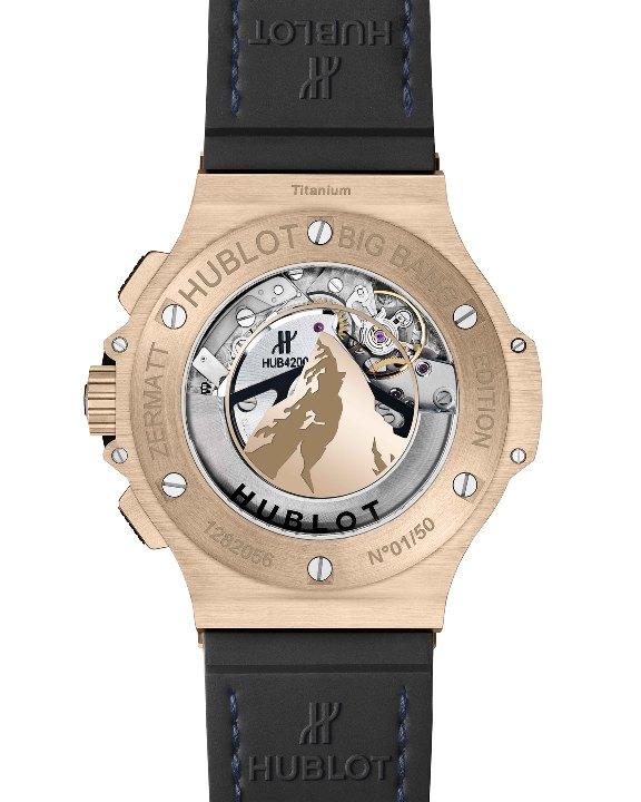 BIG BANG ZERMATT 計時碼錶黃金款錶背
