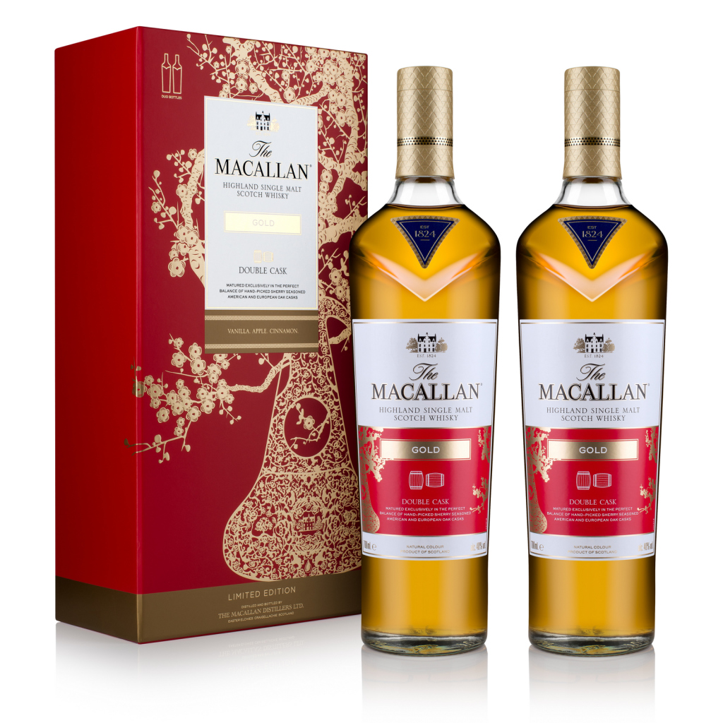 The_Macallan_CNY_GOLD_Double_Cask_Pack_45deg_with Bottles