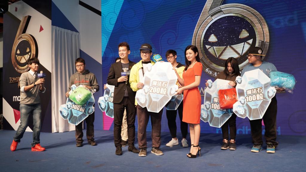 圖說:陳妍希與 Terry和得獎玩家合影