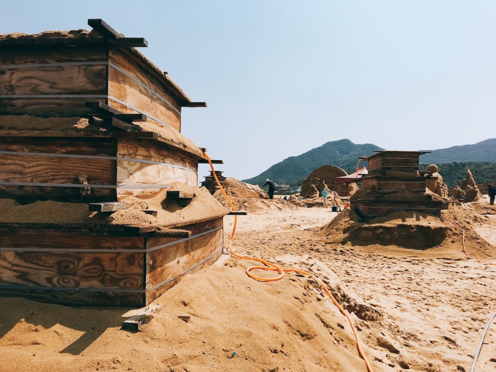 圖說4-全展區最多將展出365座沙雕作品