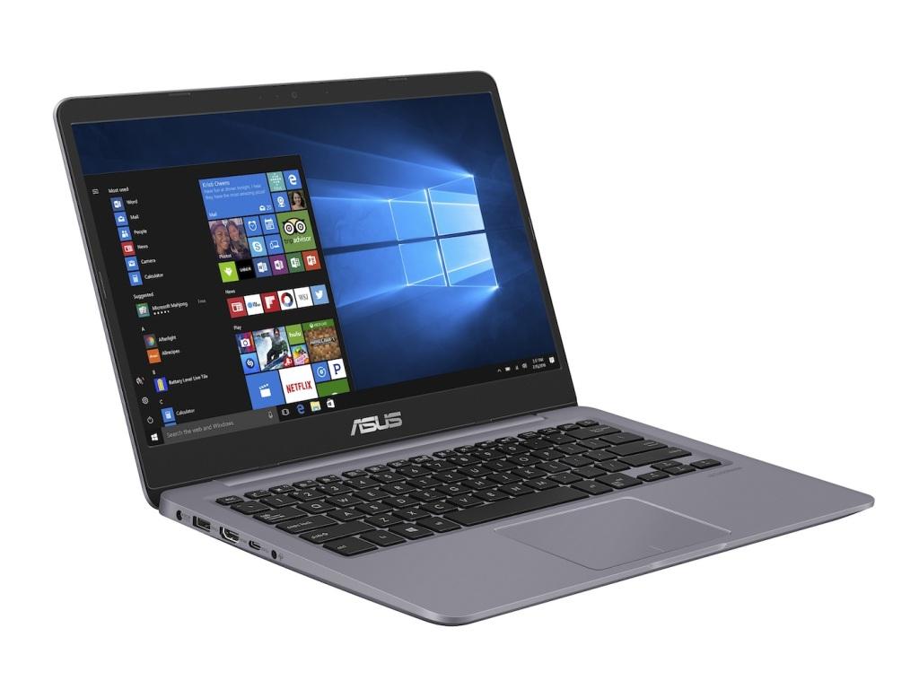 ASUS VivoBook S14搭載可讓視野更寬廣開闊的窄邊框顯示螢幕,內建第8代Intel Core i5處理器。