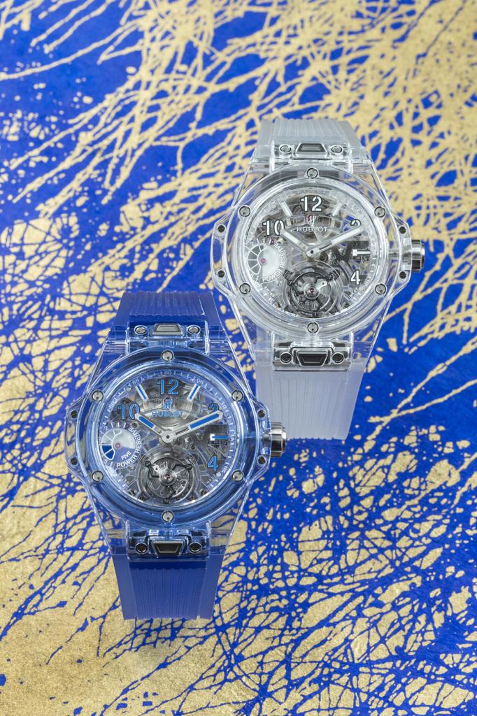 Big Bang 藍寶石陀飛輪腕錶和Big Bang 藍色藍寶石陀飛輪腕錶