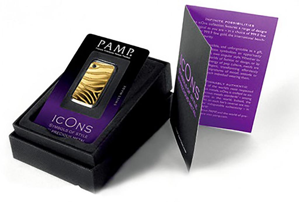 瑞士PAMP時尚金銀條塊系列-斑馬(5公克黃金條塊)